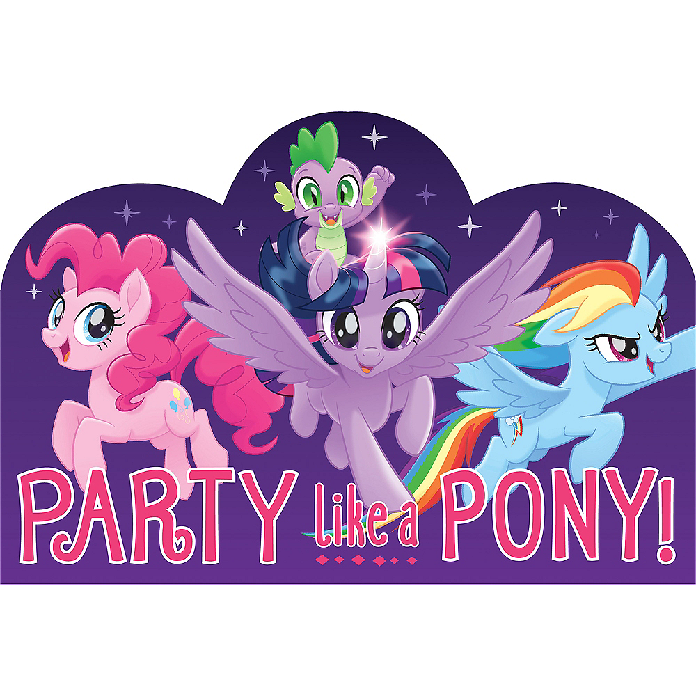 Party Like A Pony My Little Pony Invitations 8ct Image #1