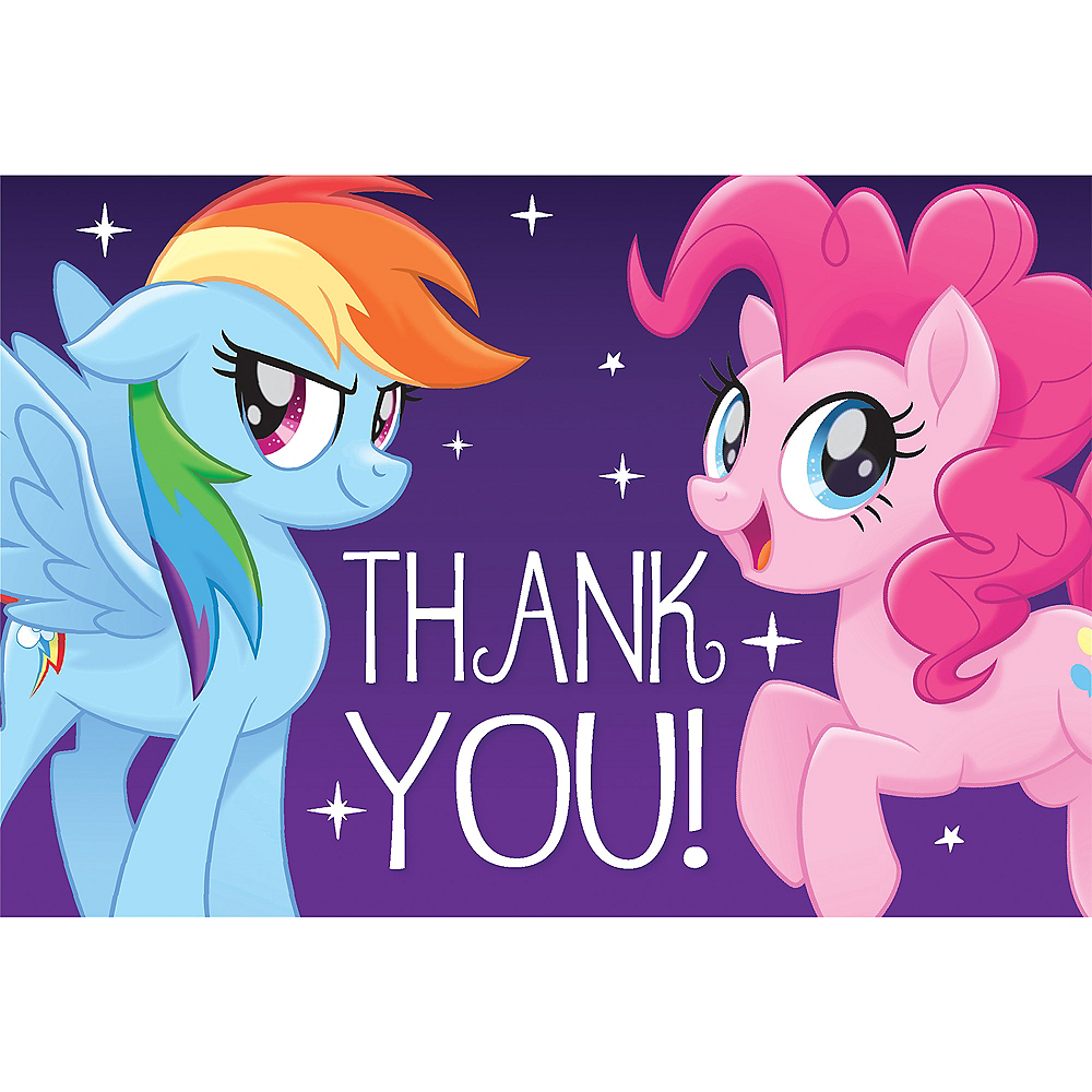 Purple My Little Pony Thank You Notes 8ct Image #1
