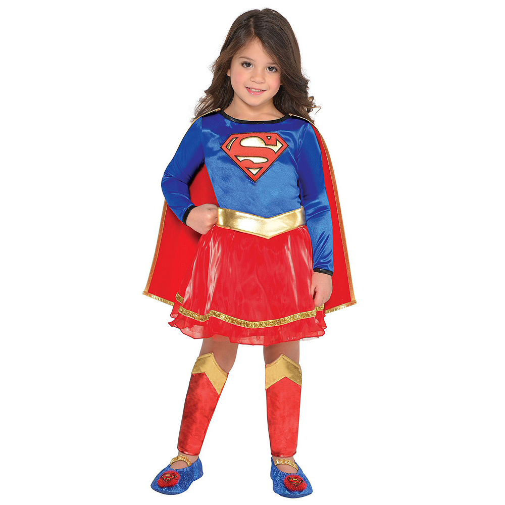 Warner Brothers DC Super Hero Girls Birthday Party Kit, Includes Supergirl Costume (3-4T), Tableware, Decor and Balloons, Serves 8 Image #10