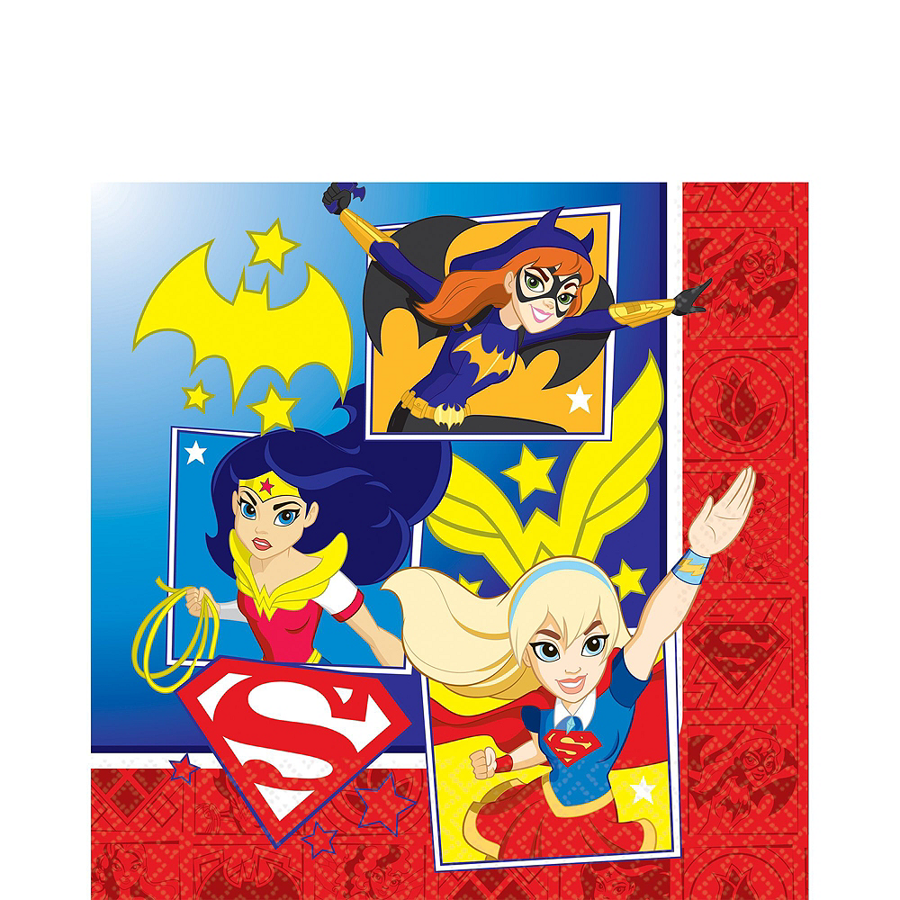 Warner Brothers DC Super Hero Girls Birthday Party Kit, Includes Supergirl Costume (8-10), Tableware, Decor and Balloons, Serves 8 Image #6