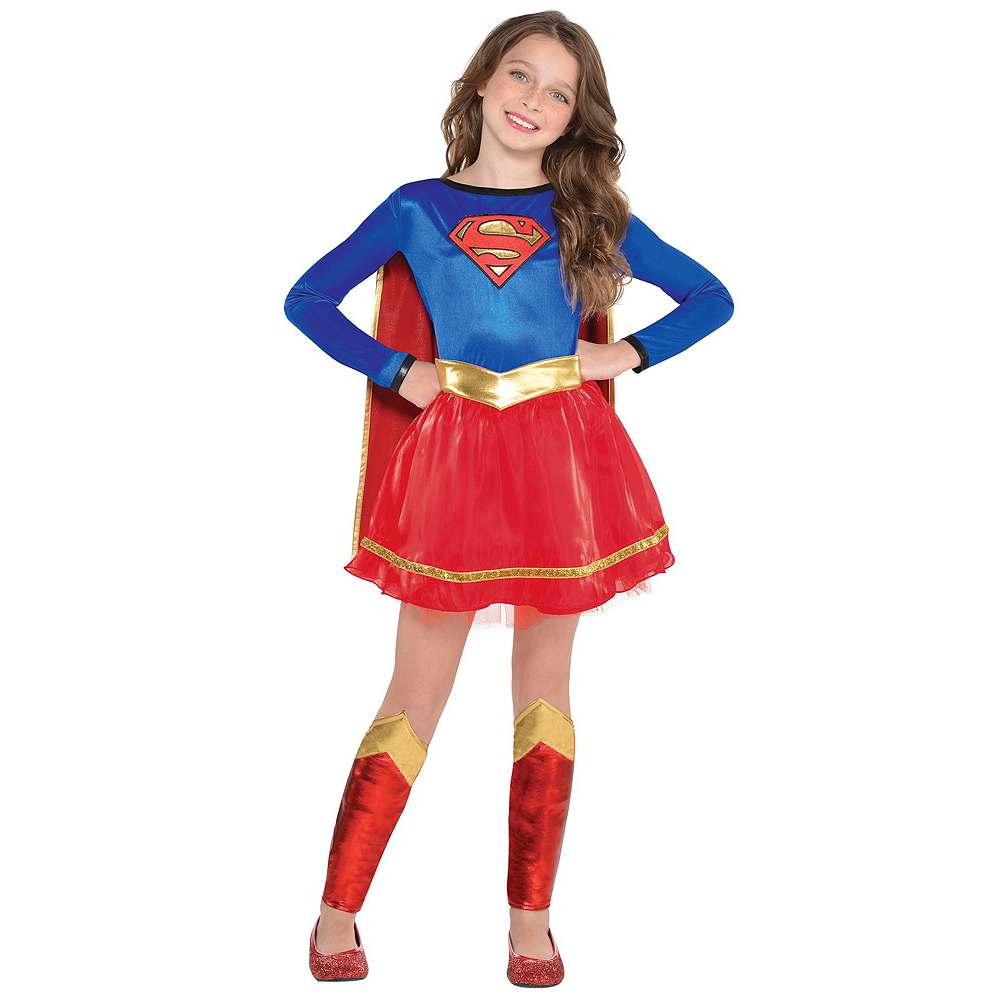 Warner Brothers DC Super Hero Girls Birthday Party Kit, Includes Supergirl Costume (8-10), Tableware, Decor and Balloons, Serves 8 Image #10