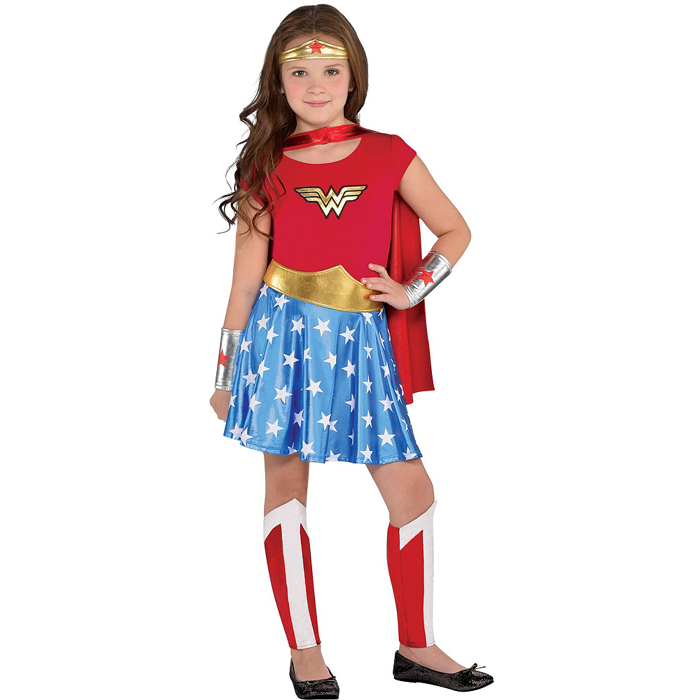 Warner Brothers DC Super Hero Girls Birthday Party Kit, Includes Wonder Woman Costume (8-10), Tableware, Decor and Balloons, Serves 8 Image #10