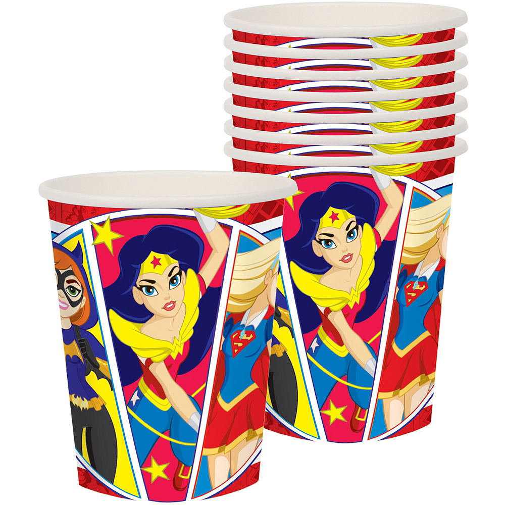 Warner Brothers DC Super Hero Girls Wonder Woman Birthday Party Kit, Includes Jumpsuit Costume (8-10), Tableware, Decor and Balloons, Serves 8 Image #7