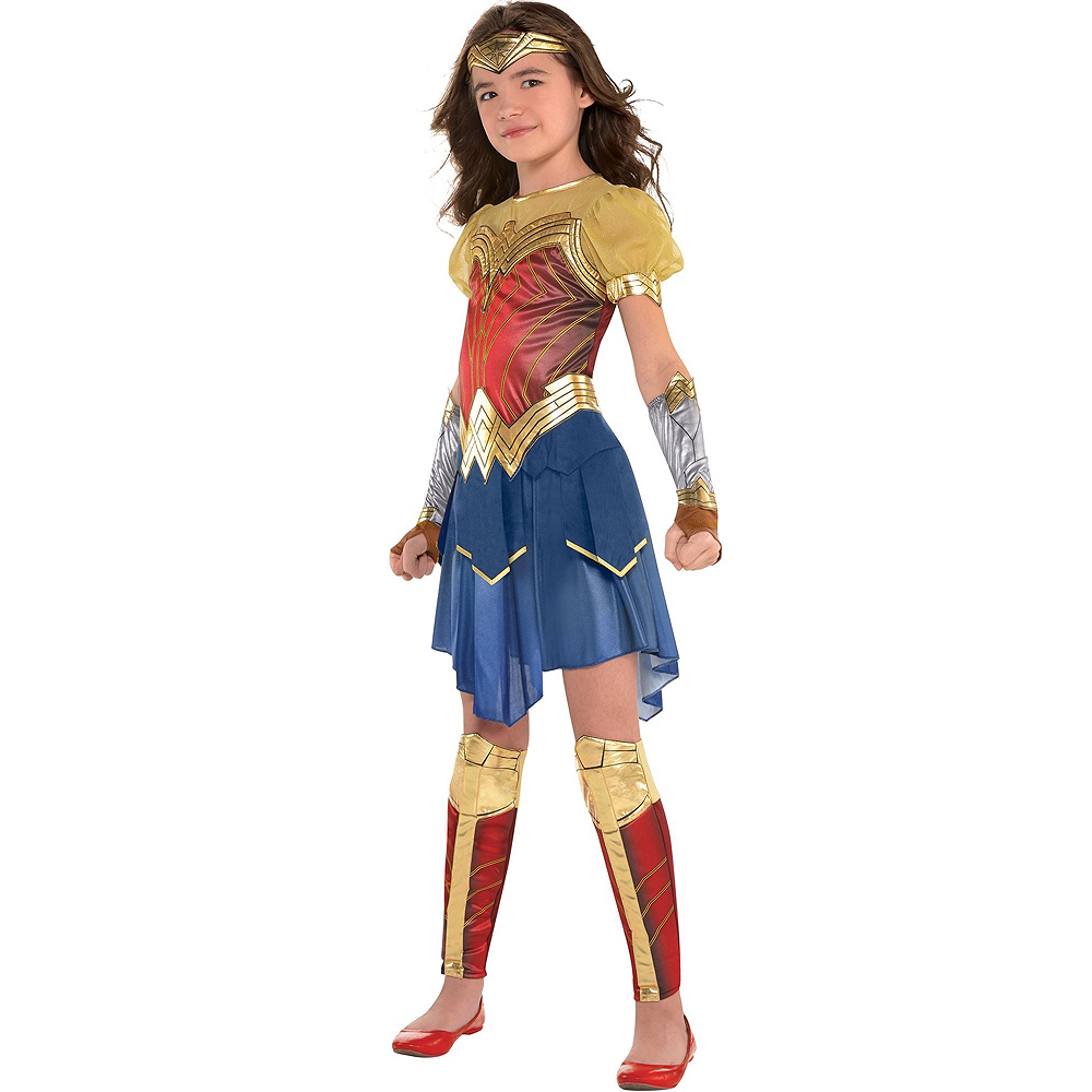 Warner Brothers Wonder Woman Movie Birthday Party Supplies Kit, Includes Costume (12-14), Tableware, Decor and Balloons, Serves 8 Image #10