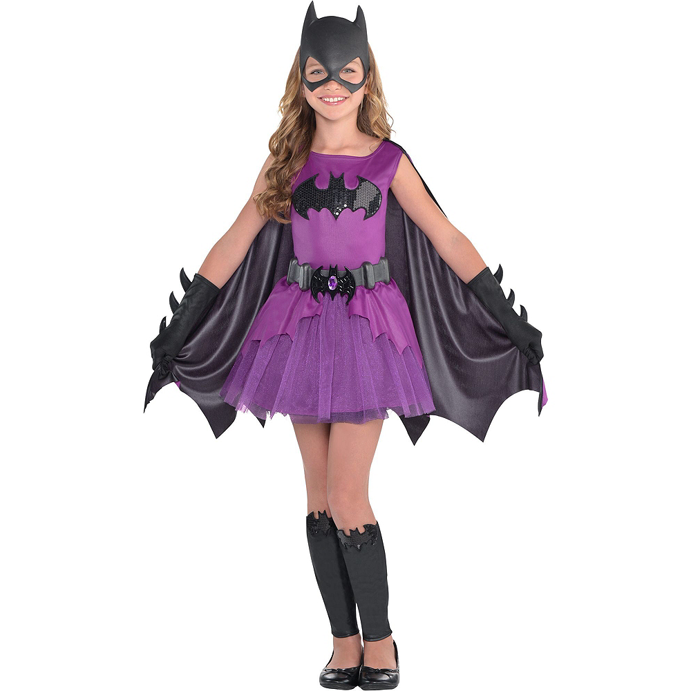 Warner Brothers Batman Girls Birthday Party Kit, Includes Batgirl Costume (8-10), Tableware, Decor and Balloons, Serves 8 Image #10