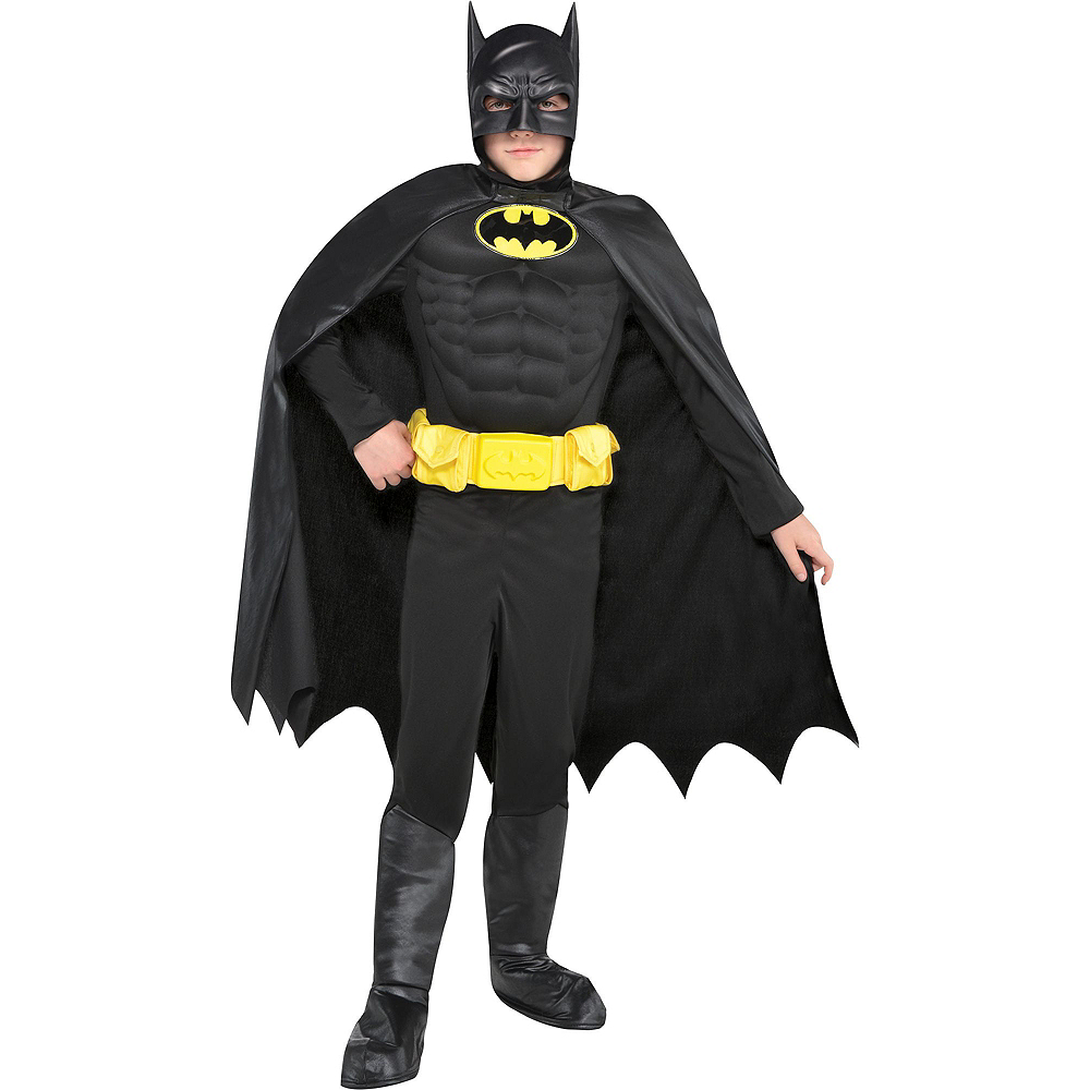Warner Brothers Batman Birthday Party Kit, Includes Batman Muscle Costume (8-10), Tableware, Decor and Balloons, Serves 8 Image #10