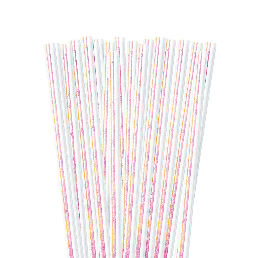 Iridescent Paper Straws 24ct Image #1