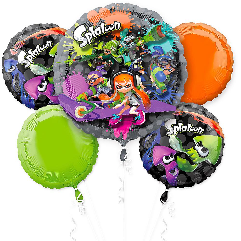 Splatoon Balloon Bouquet 5pc Image #1