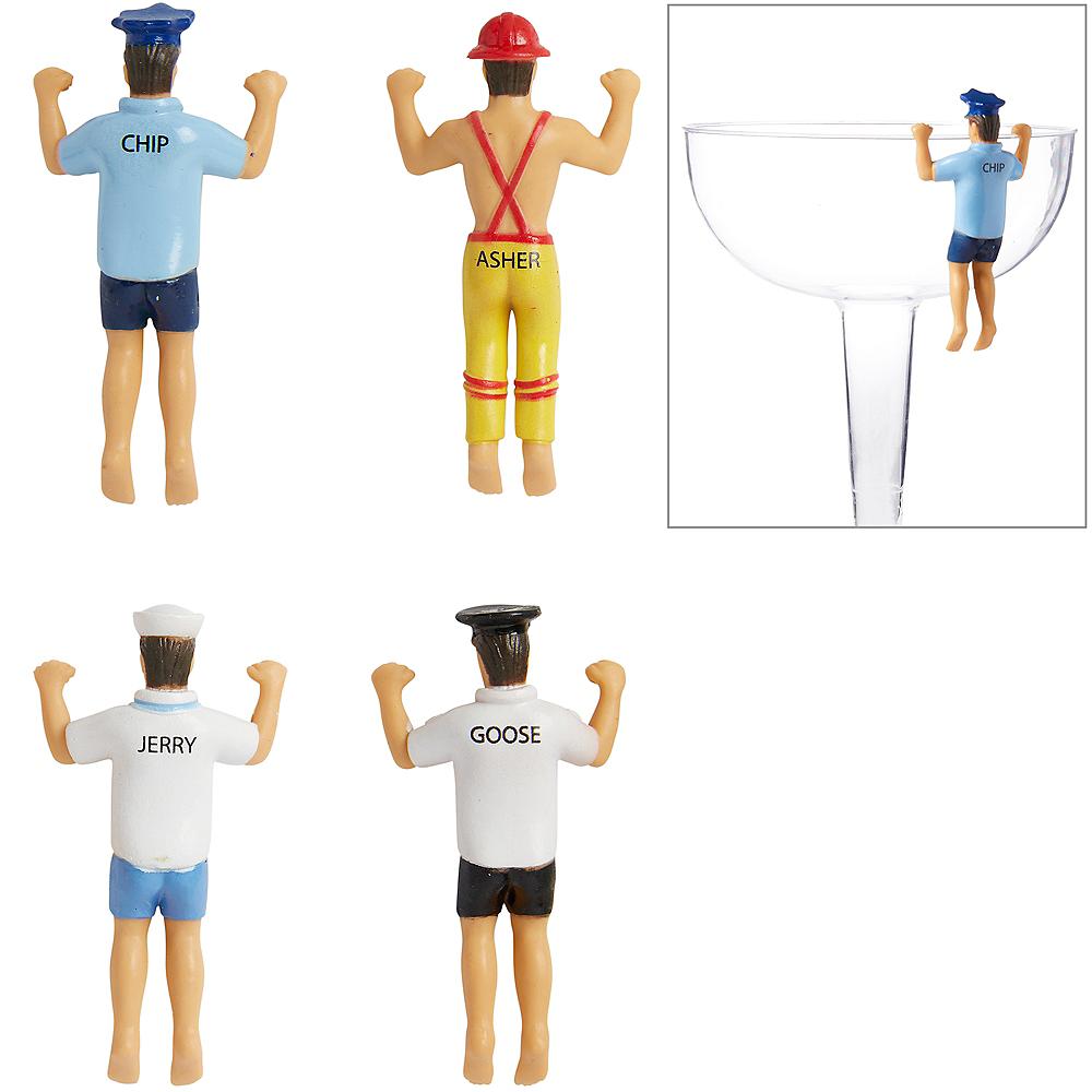 Men in Uniform Glass Markers 4ct Image #1