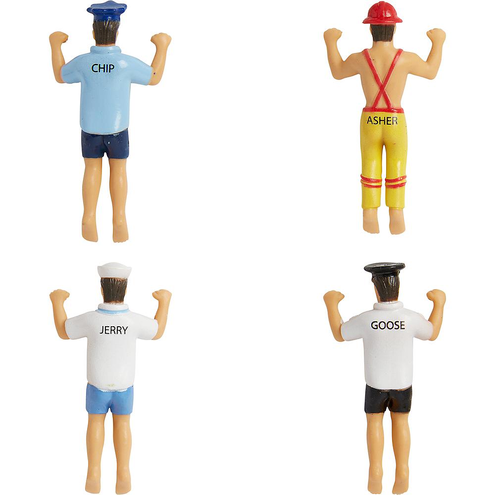 Men in Uniform Glass Markers 4ct Image #3