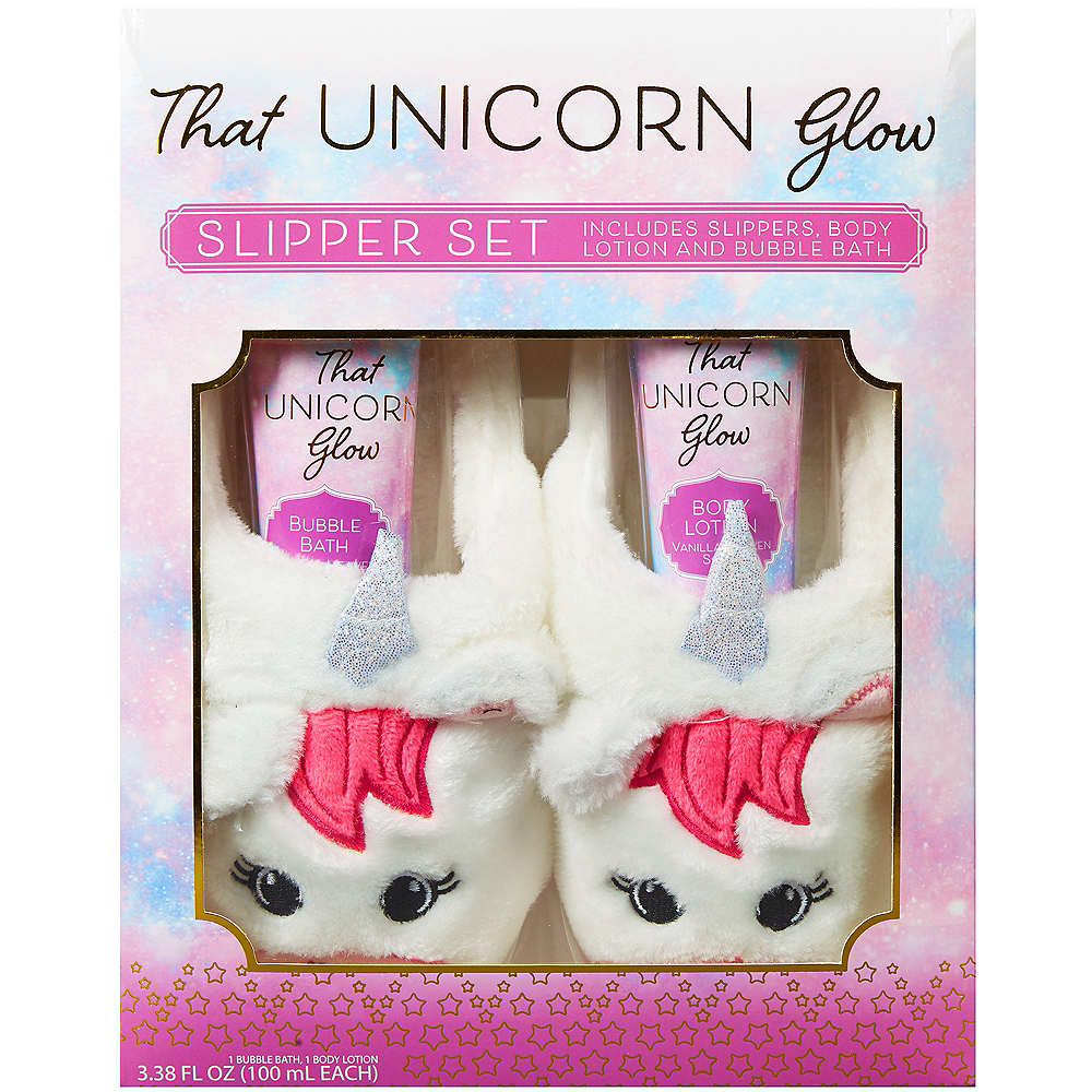 Nav Item for Unicorn Slippers Bath Set 3pc Image  1 ... 0d934fe84