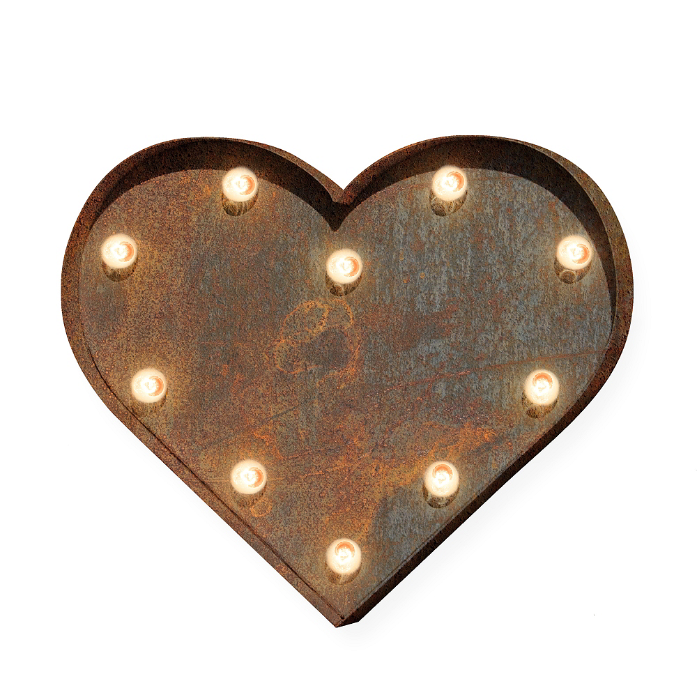 Light-Up Heart Marquee Sign Image #1