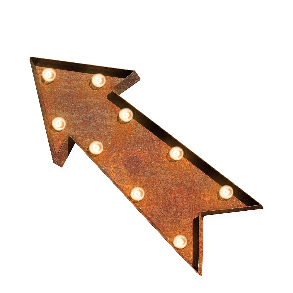 Light-Up Arrow Marquee Sign Image #1