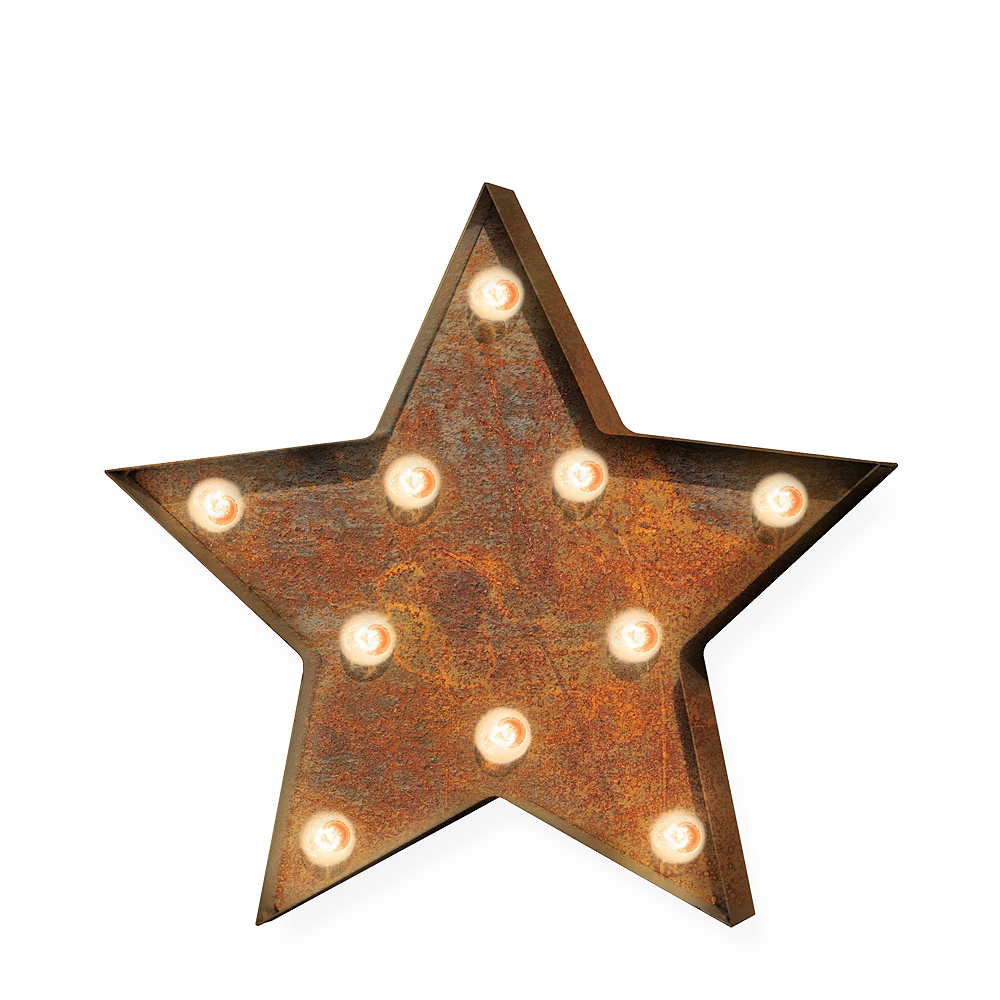 Light-Up Star Marquee Sign Image #1