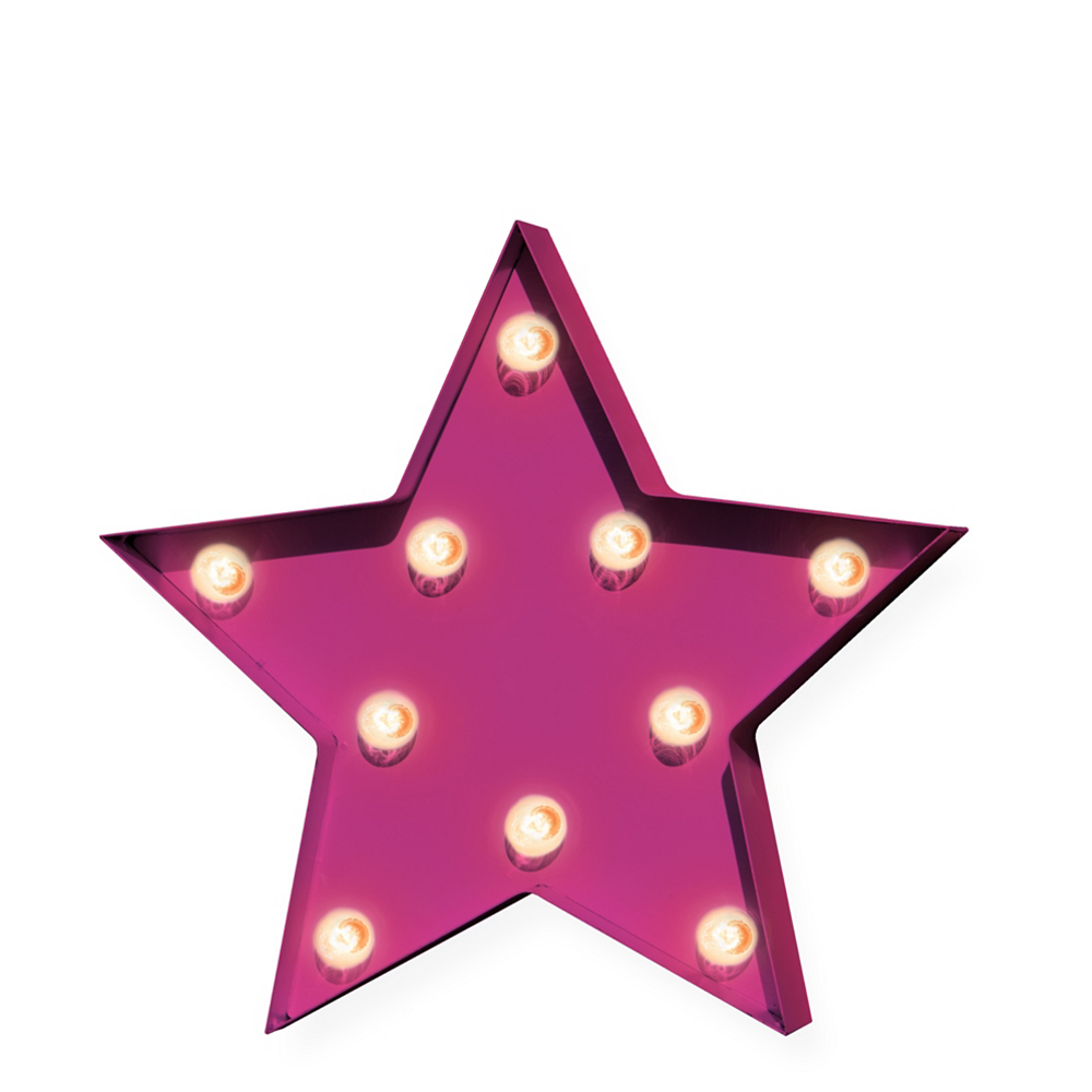 Light-Up Pink Star Marquee Sign Image #1