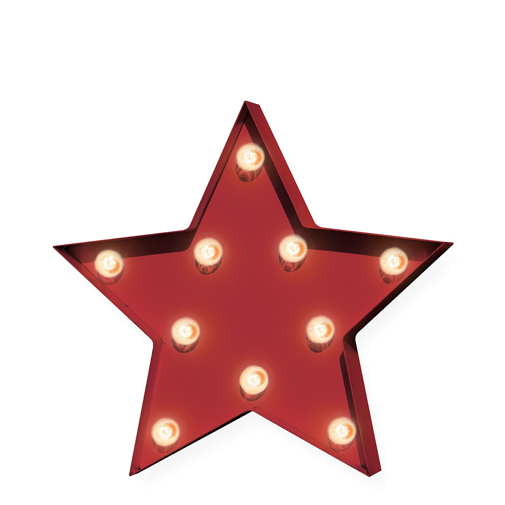 Light-Up Red Star Marquee Sign Image #1