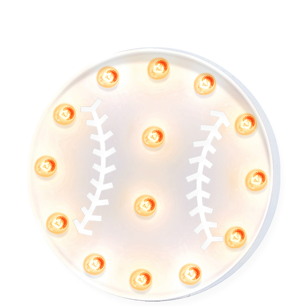 Light-Up Baseball Marquee Sign Image #1