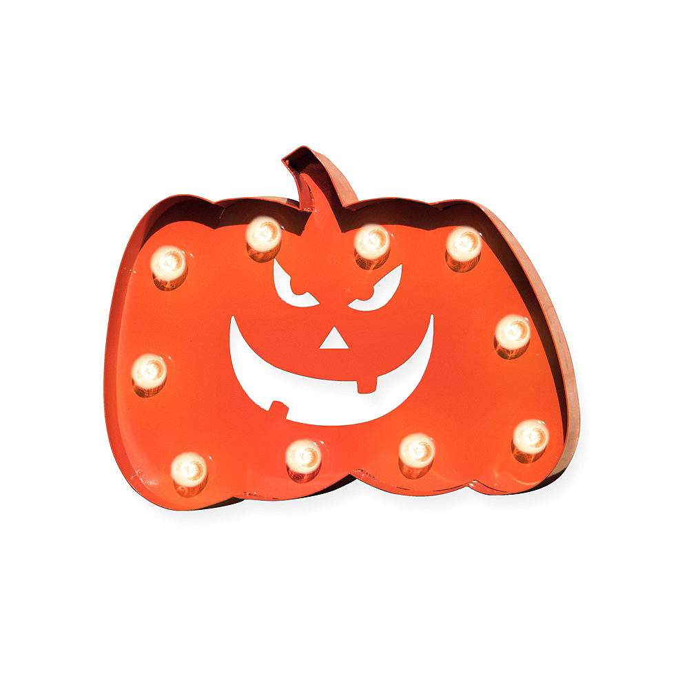 Light-Up Jack-o'-Lantern Marquee Sign Image #1