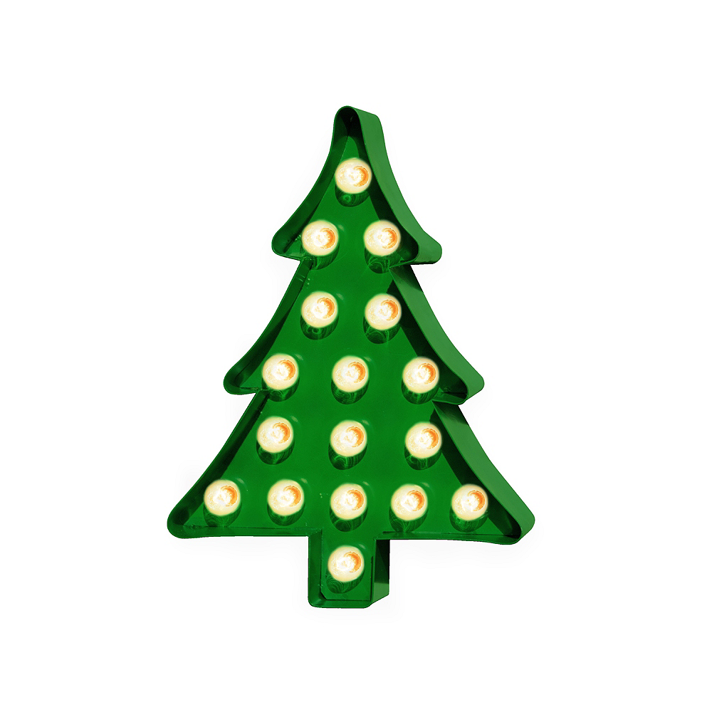 Light-Up Christmas Tree Marquee Sign Image #1