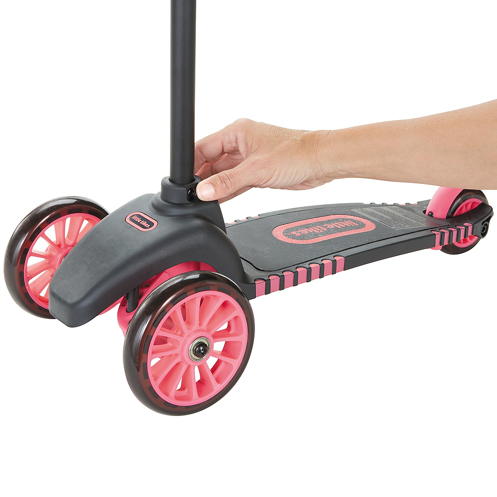 Black & Pink Lean to Turn Scooter Image #2