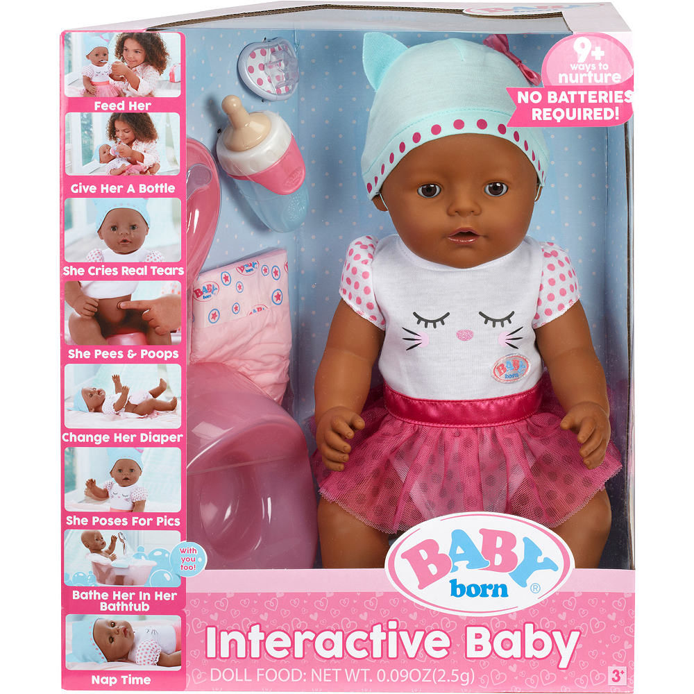 Baby Born Interactive Baby Doll with Dark Brown Eyes Image #1