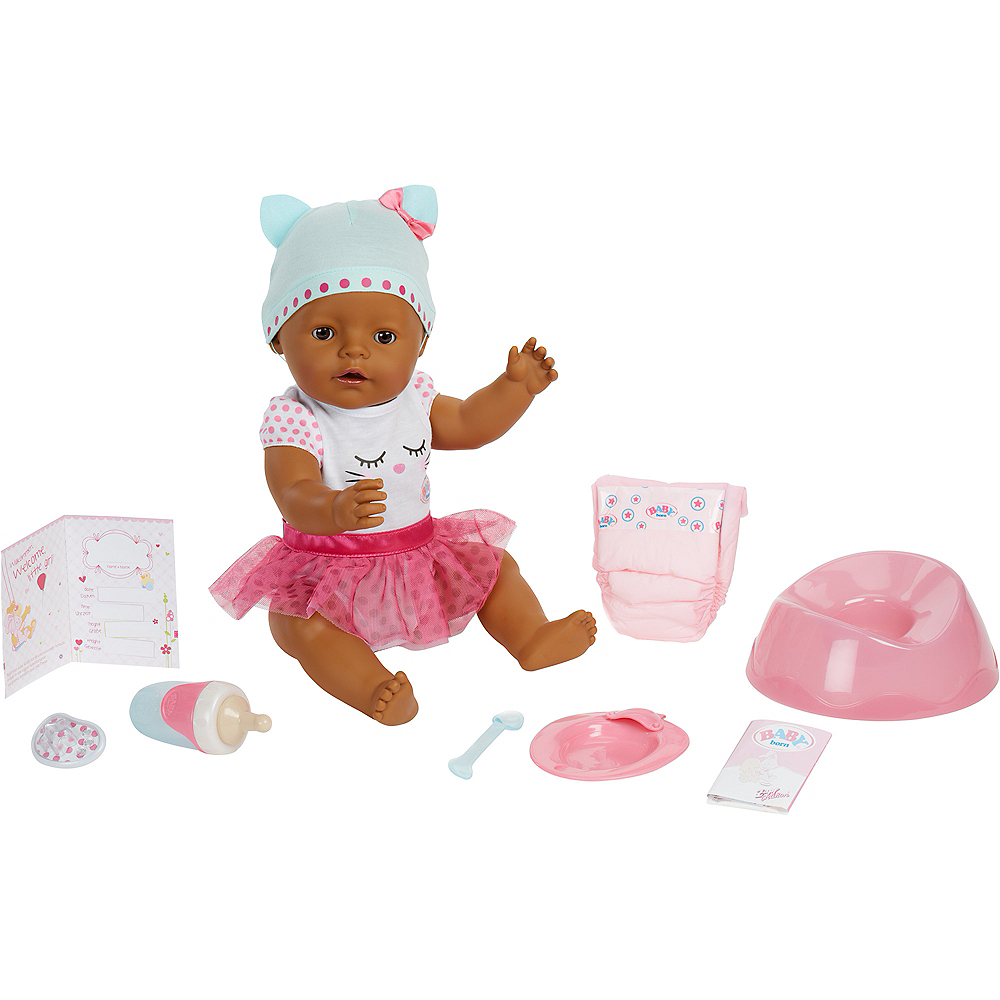Baby Born Interactive Baby Doll with Dark Brown Eyes Image #2