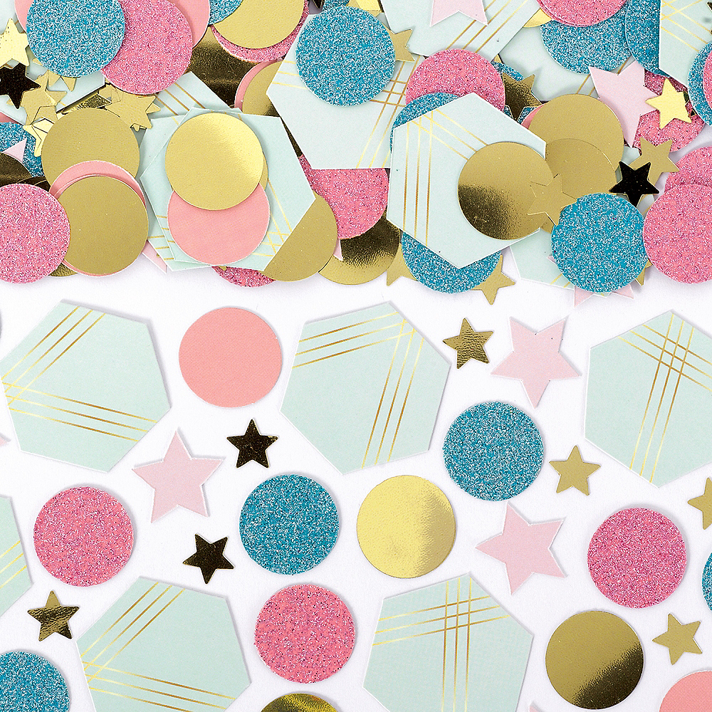 Nav Item for Blue, Gold & Pink Geometric Confetti Image #1