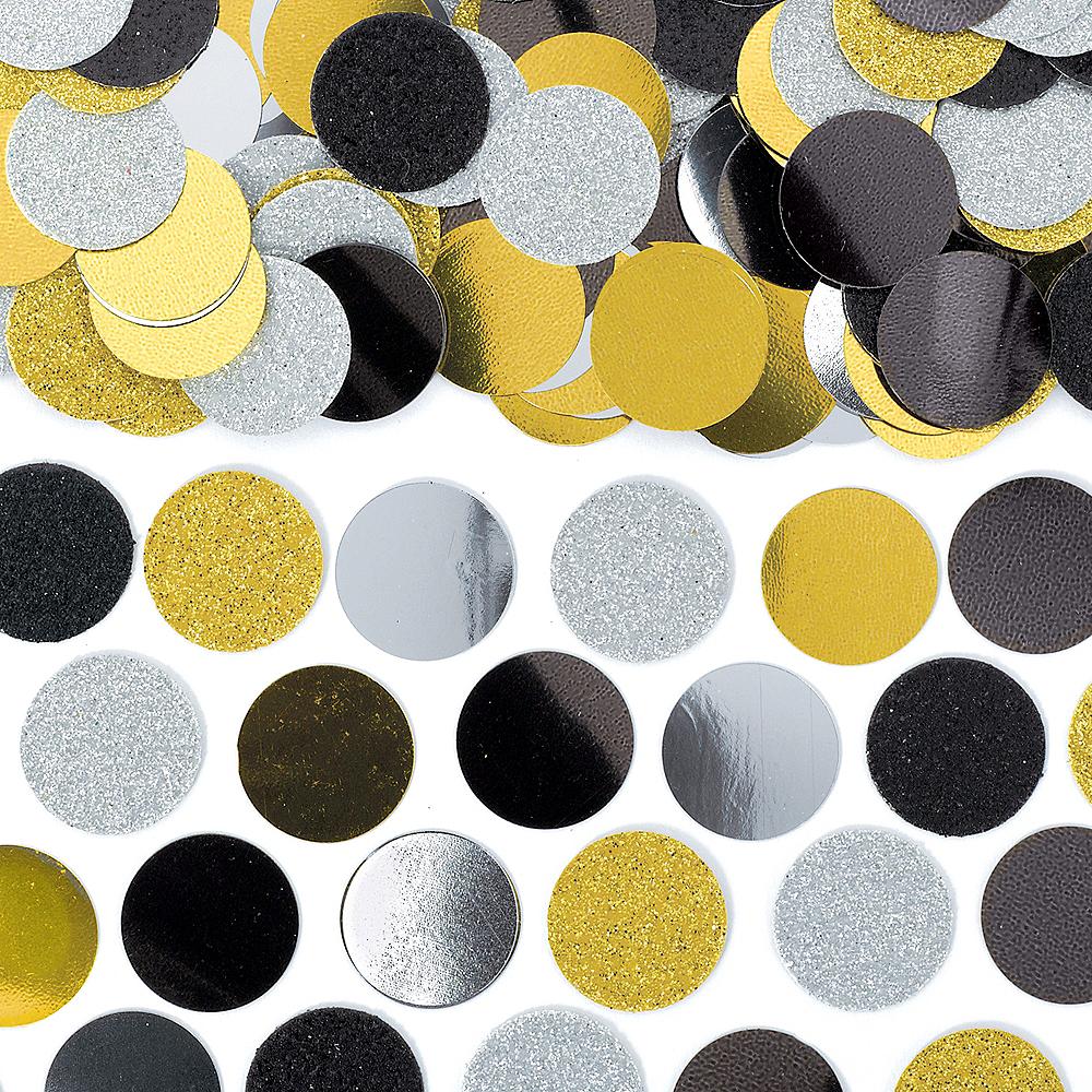 Shiny Black, Gold & Silver Confetti Image #1