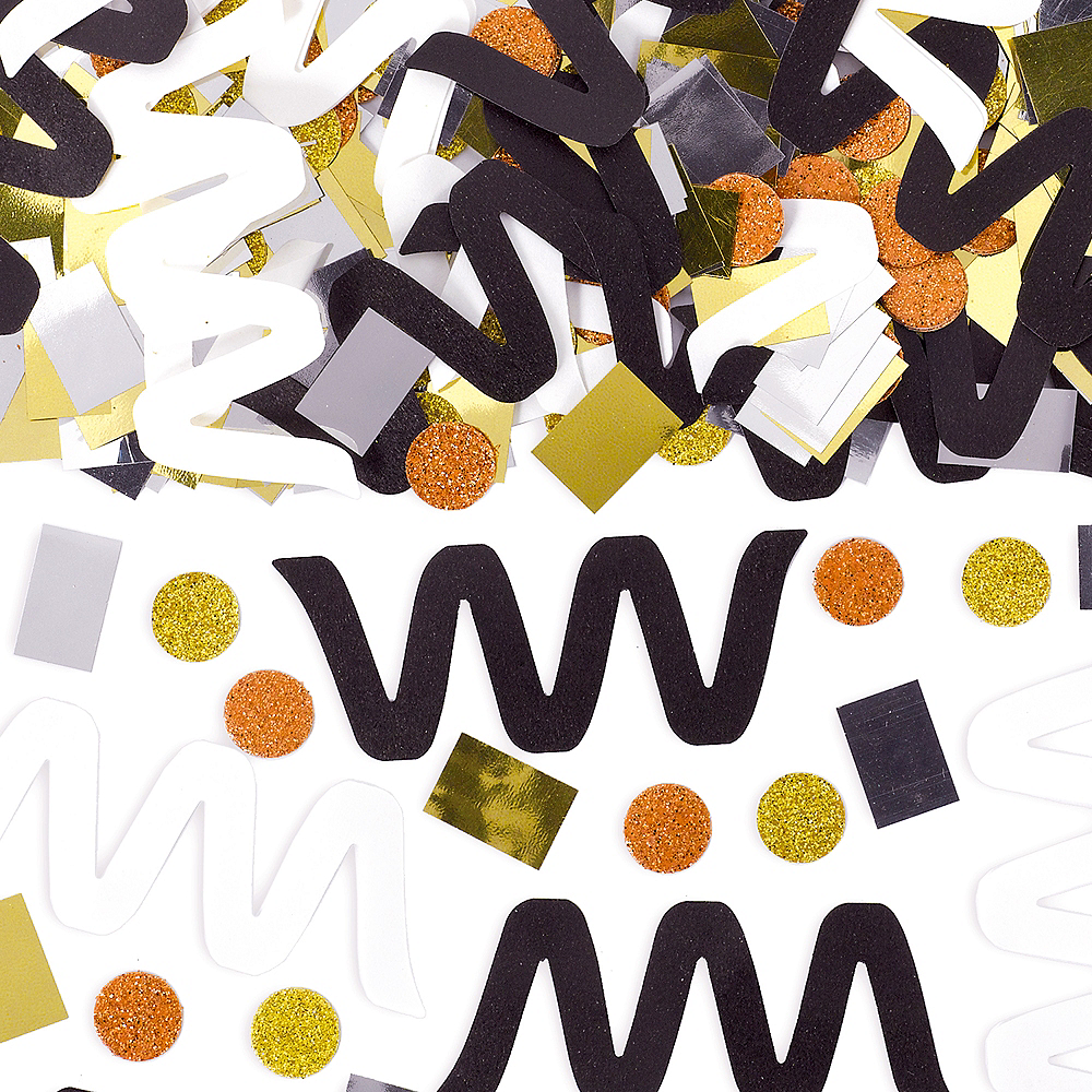 Black, Metallic & White Confetti Image #1