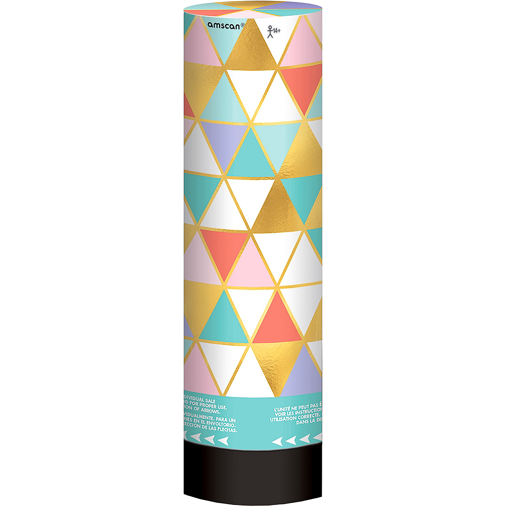Metallic Gold & Pastel Confetti Party Poppers 2ct Image #2