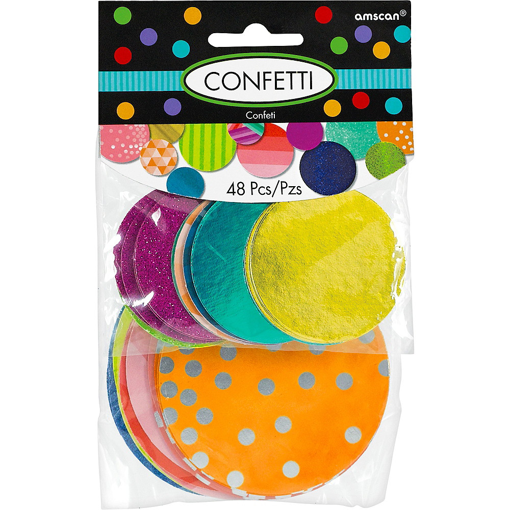 Giant Colorful Confetti Circles 48ct Image #1
