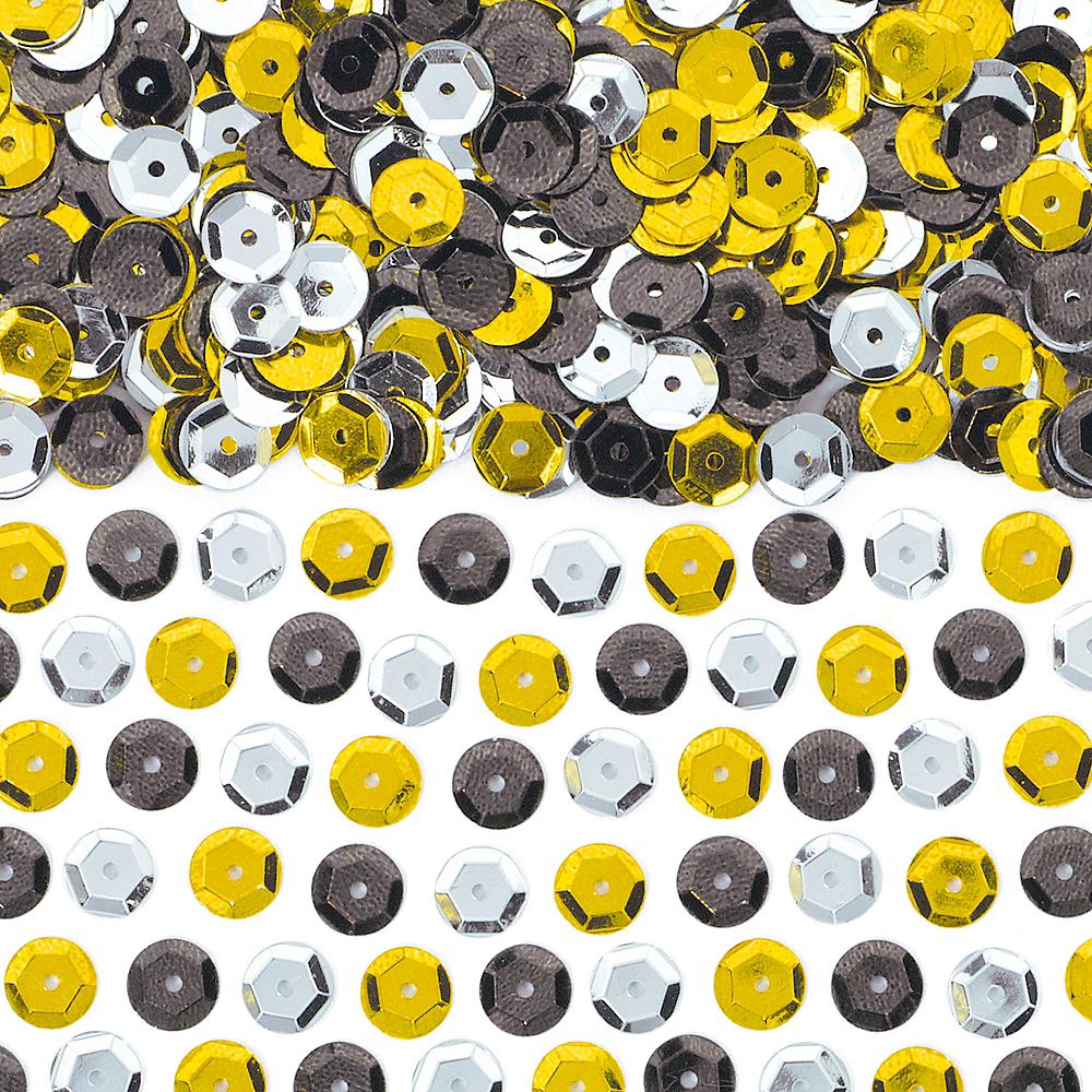 Black, Gold & Silver Sequin Confetti Image #1