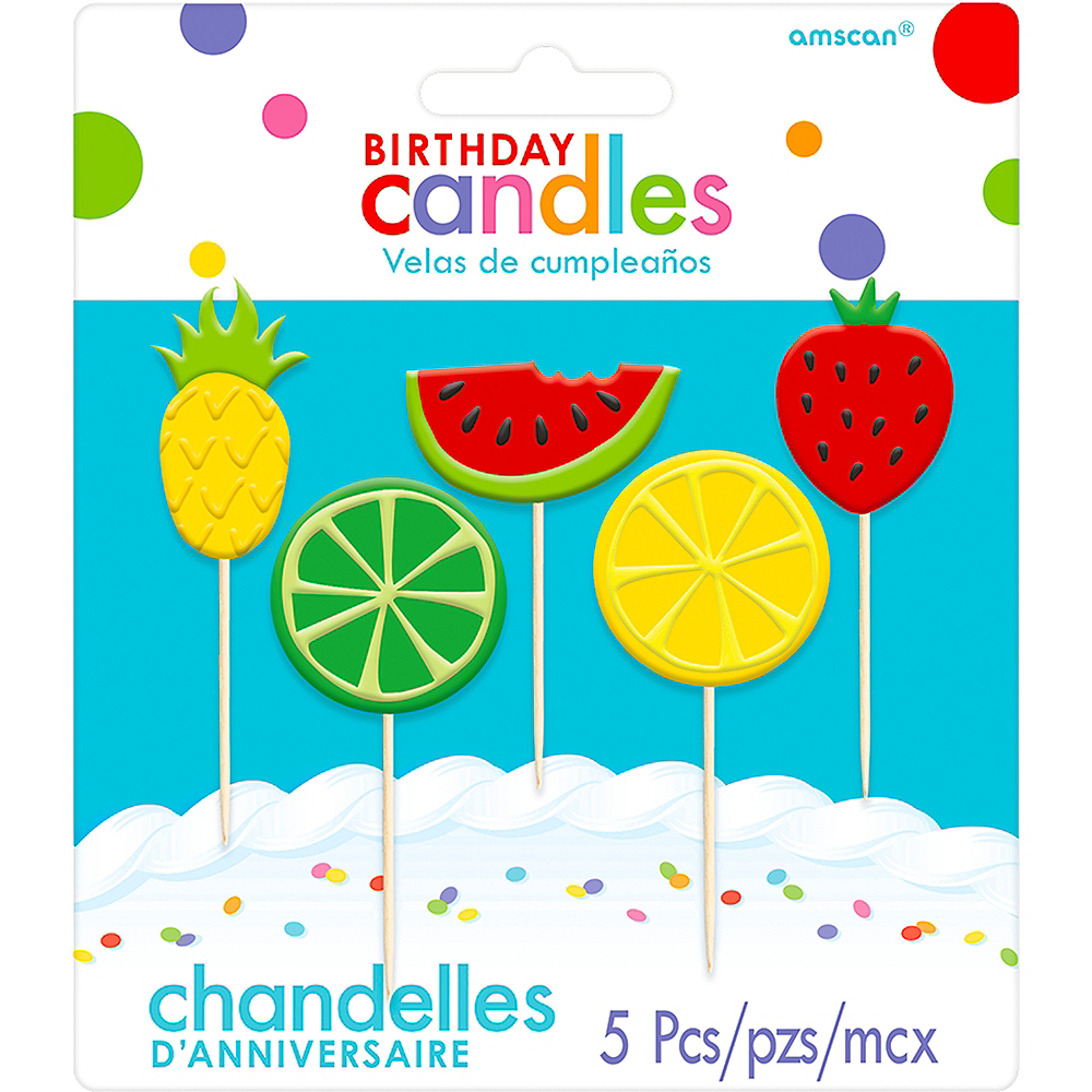 Fruit Birthday Toothpick Candles 5ct Image #1