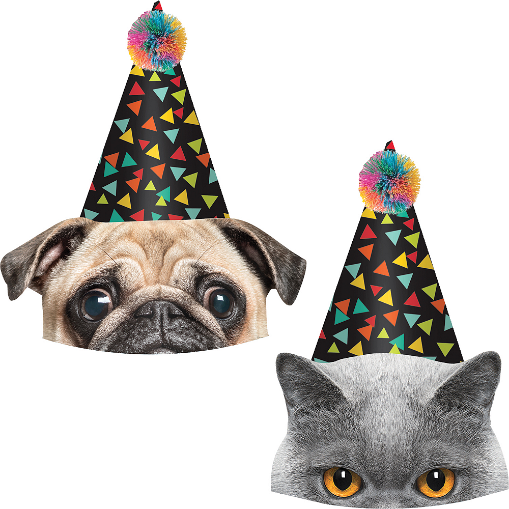 Over the Hill Party Hats 8ct Image #1