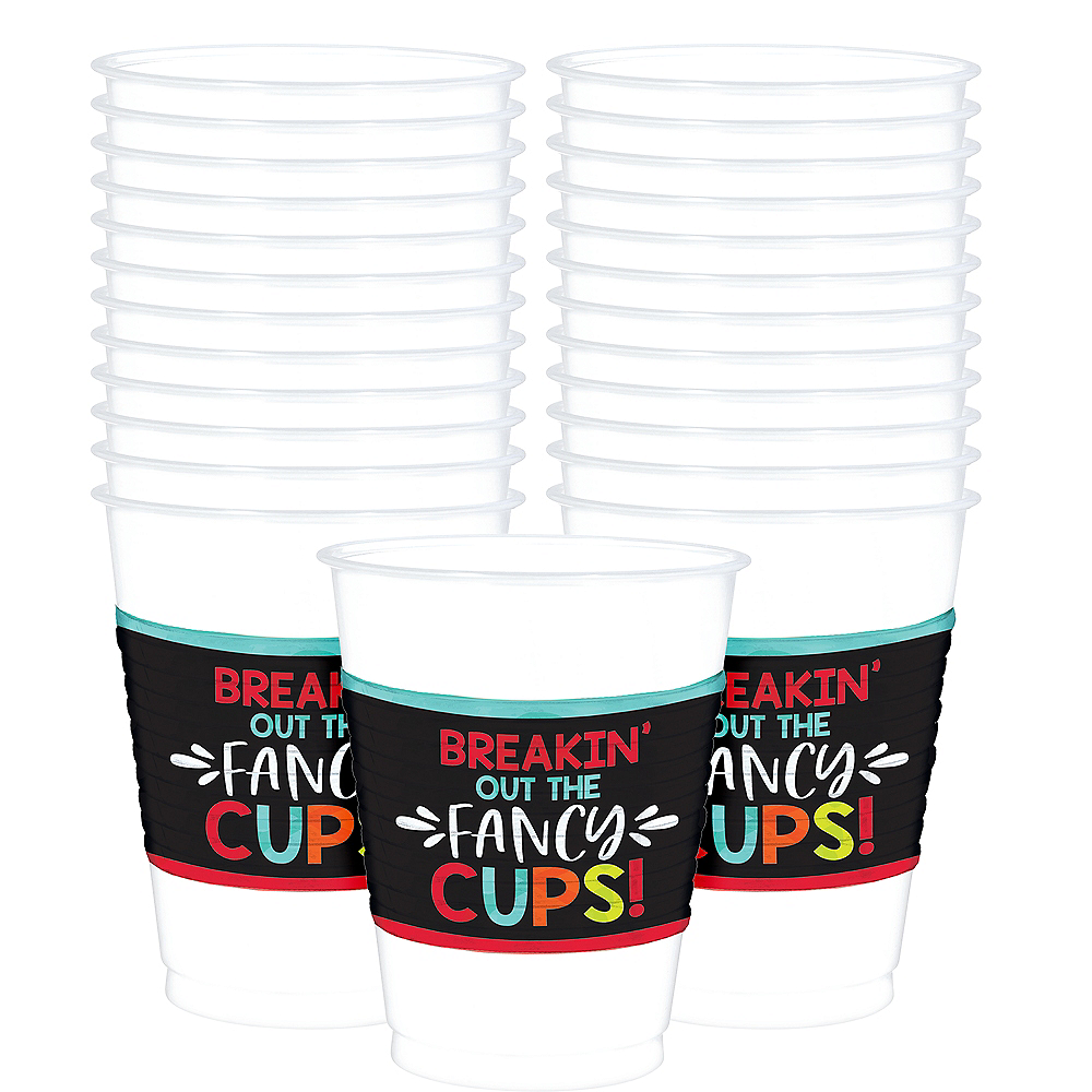 Over the Hill Plastic Cups 24ct Image #1