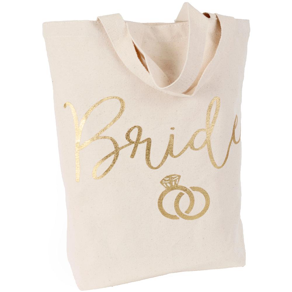 Metallic Gold Canvas Bride Bag Image #1