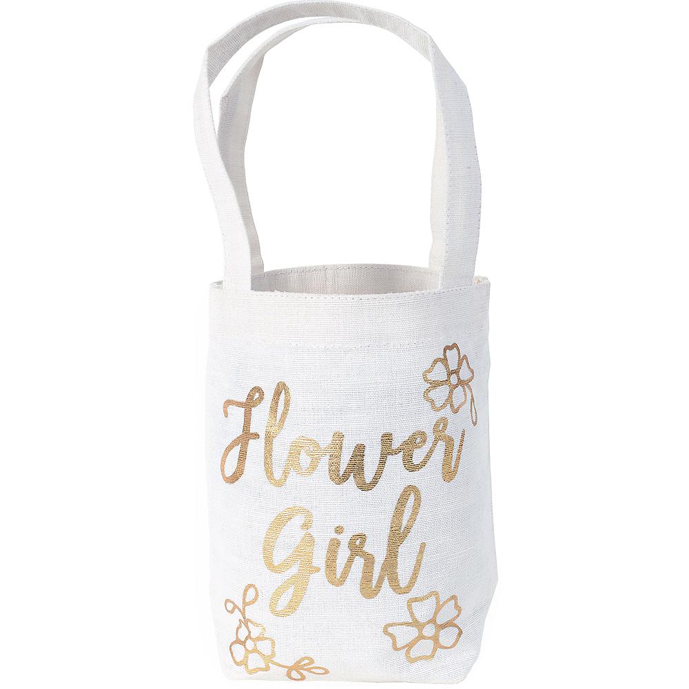 Metallic Gold Flower Girl Bag Image #1