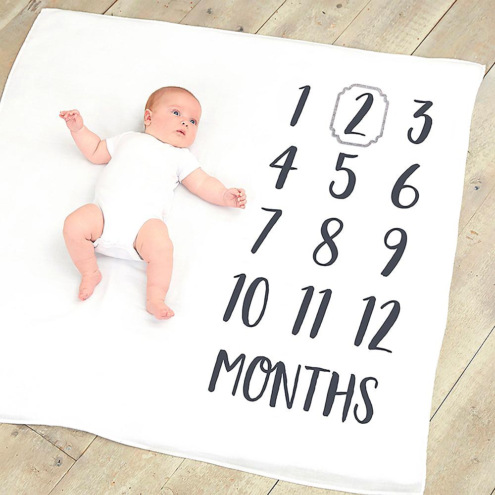 Milestone Baby Photo Blanket Image #1