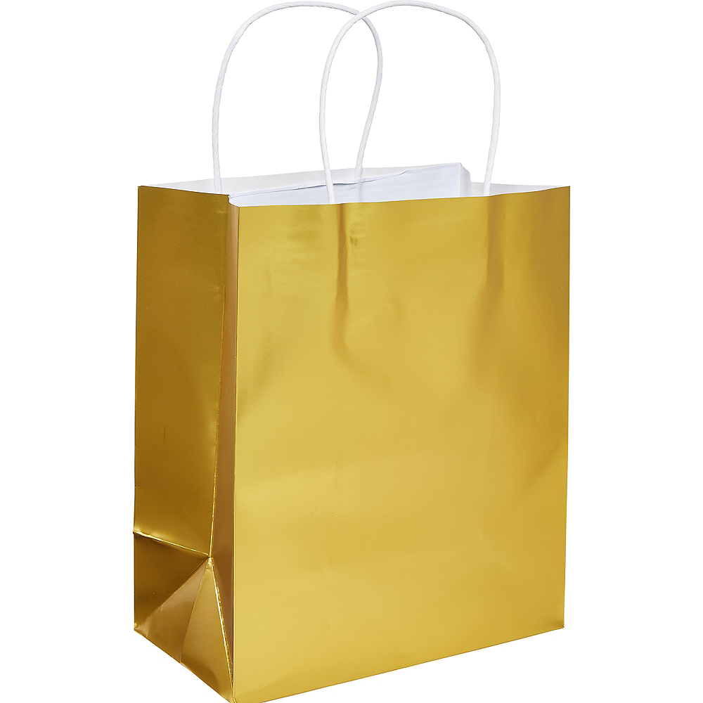 Small Gold Paper Gift Bag Image #1