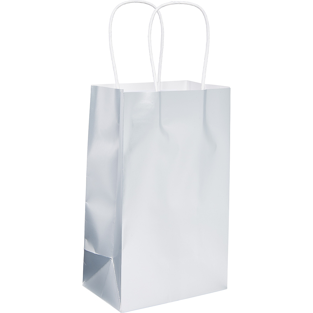 Extra Small Silver Paper Gift Bag Image #1