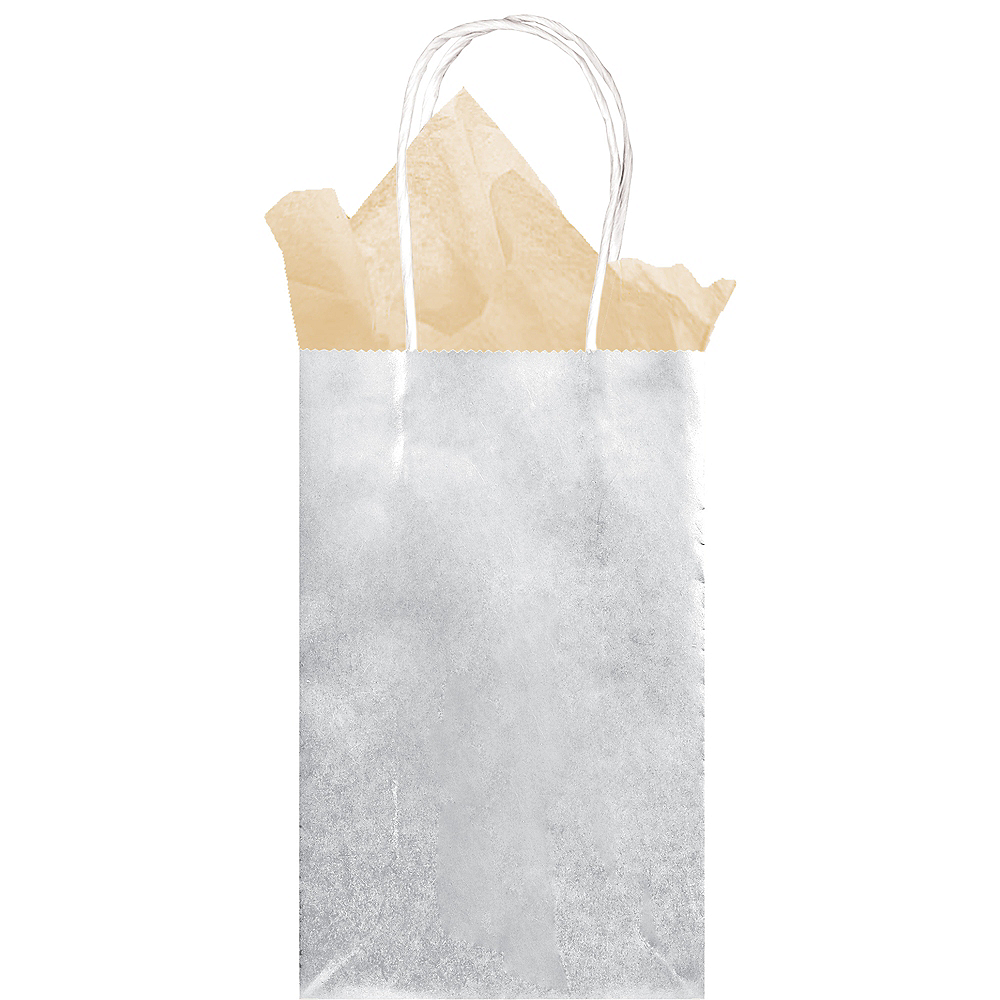 Extra Small Silver Paper Gift Bag Image #2