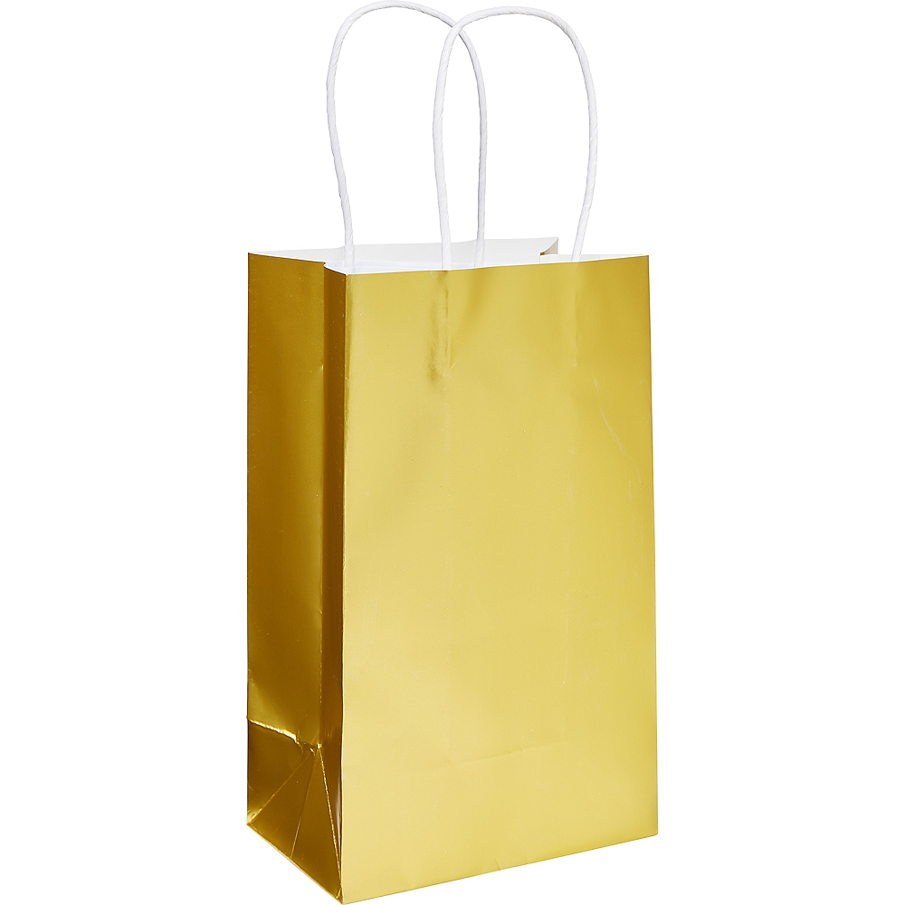 Extra Small Gold Paper Gift Bag Image #1