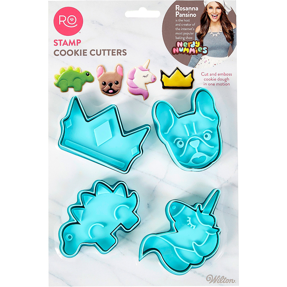 Wilton Rosanna Pansino Stamp Cookie Cutters 4ct Image #3