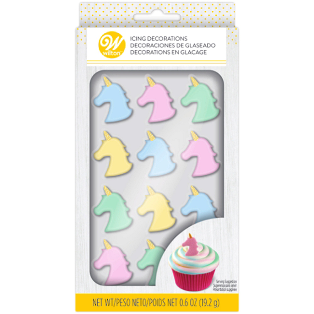 Nav Item for Wilton Unicorn Icing Decorations 12ct Image #2