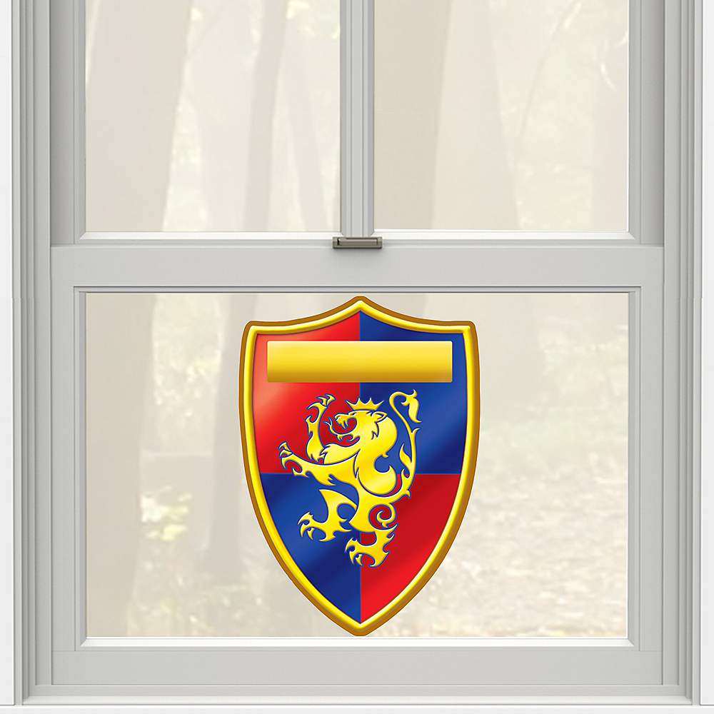 Medieval Crest Cling Decal Image #1