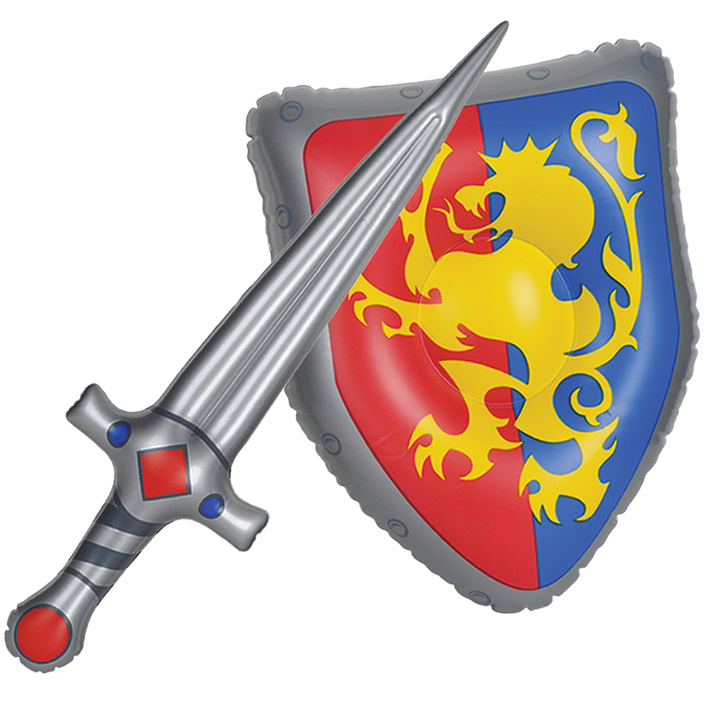 Inflatable Medieval Shield & Sword Set 2pc Image #1