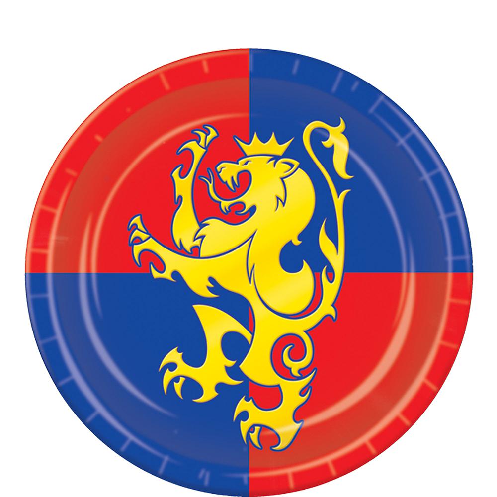 Medieval Crest Dessert Plates 8ct Image #1