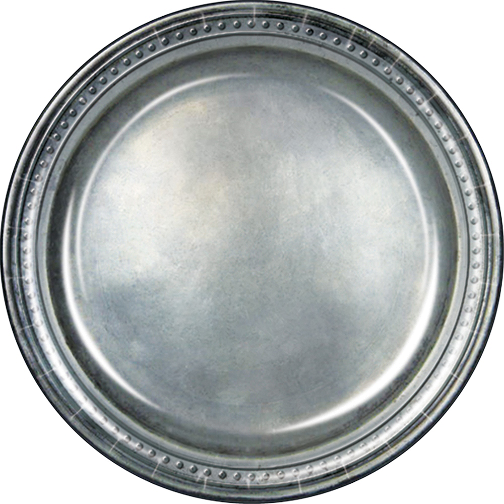 Medieval Pewter Lunch Plates 8ct Image #1