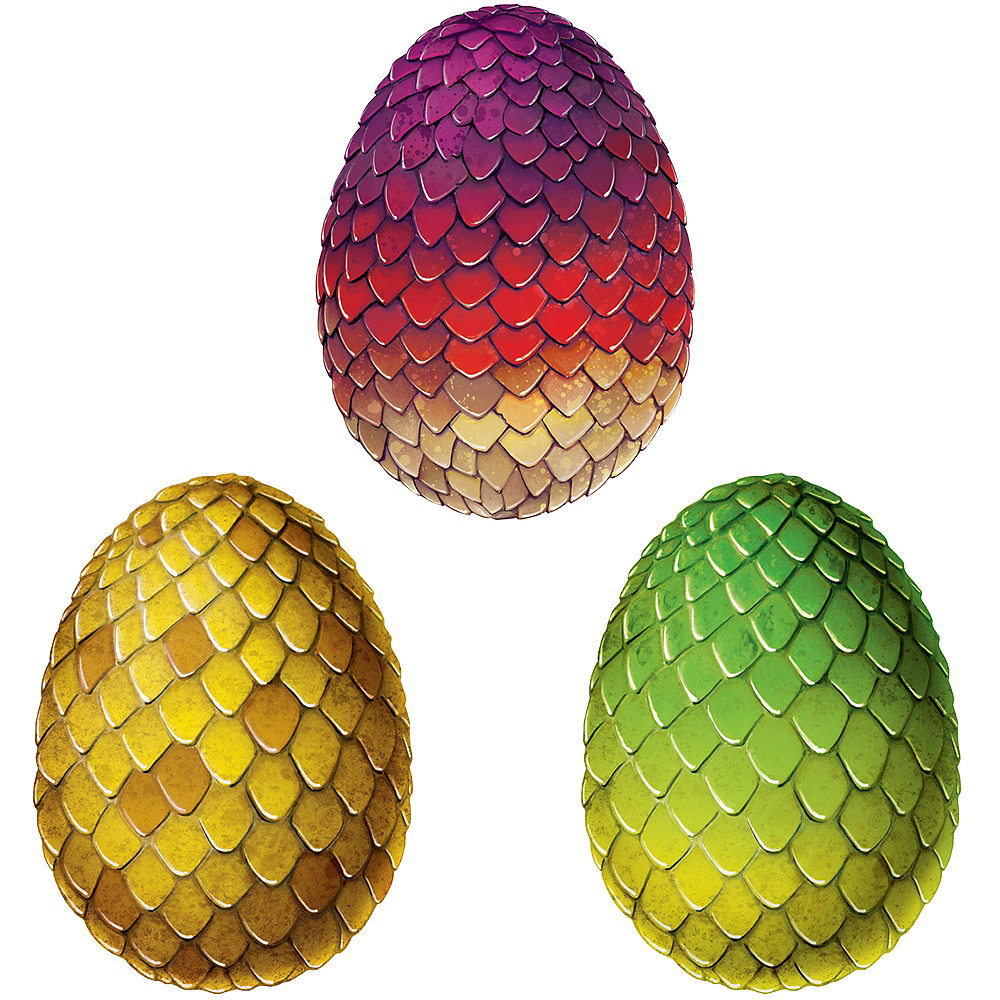 Dragon Egg Cutouts 3ct Image #1