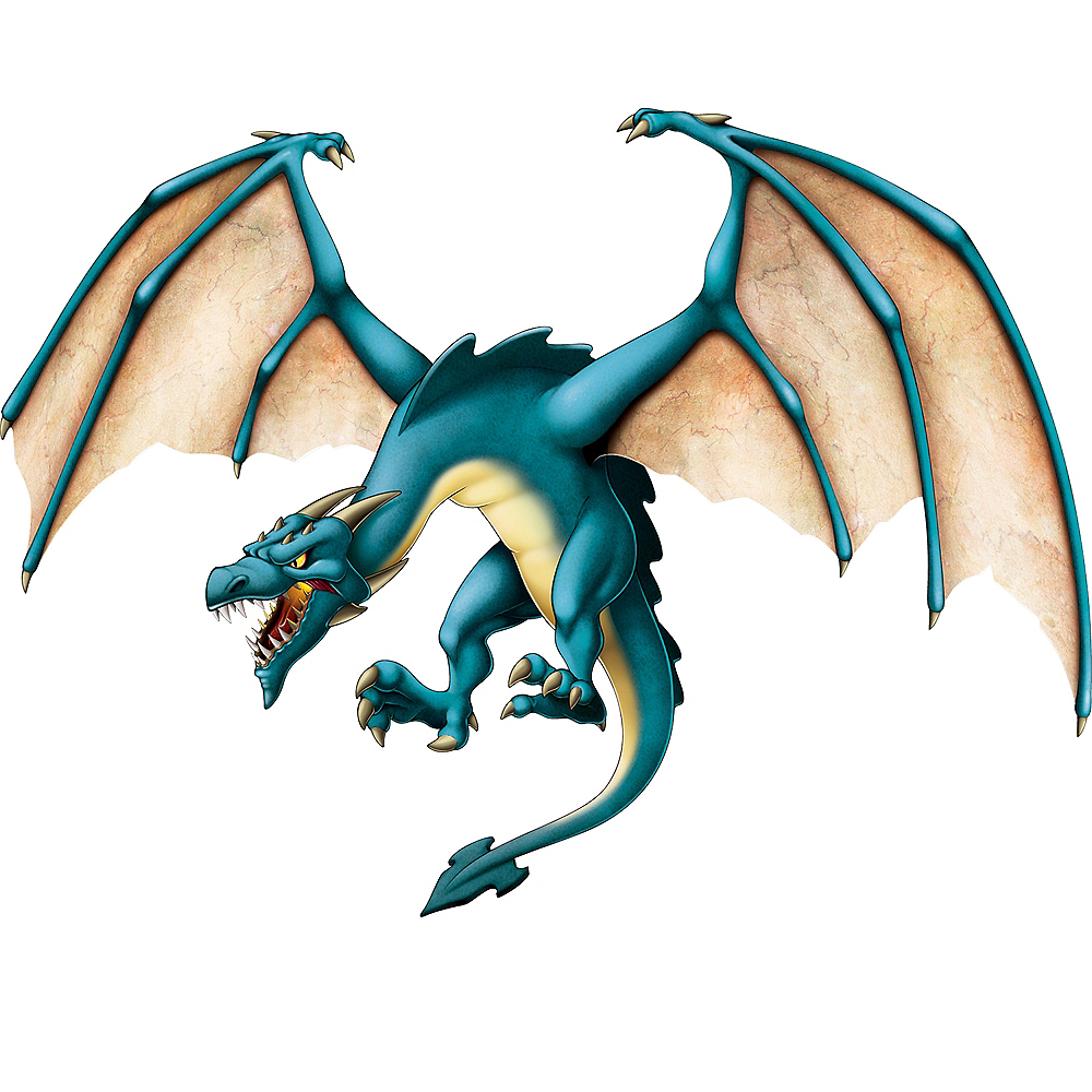 Jointed Blue Dragon Cutout Image #1